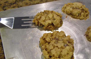 Candy Surprise Oatmeal Cookies