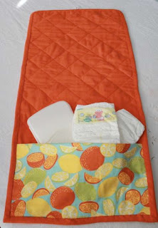 Citrus Diaper Changing Pad