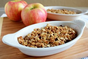 Cranberry Apple Crisp | It Bakes Me Happy