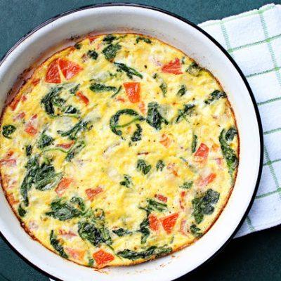 Spinach & Tomato Frittata