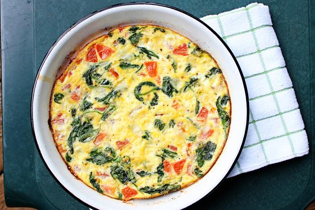 Spinach Tomato Frittata