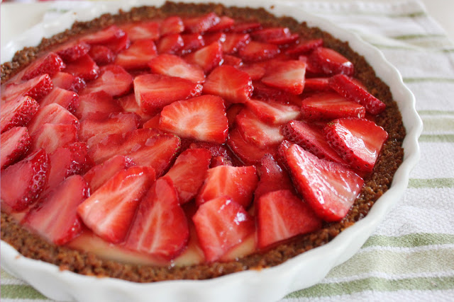 A smooth, creamy lime filling inside a tender, crisp graham cracker crust topped with fresh strawberries makes this Strawberry Lime Tart a dessert everyone will love.