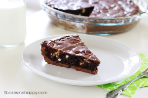Ultimate Brownie Pie | It Bakes Me Happy