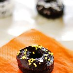Baked Miniature Dark Chocolate Donuts