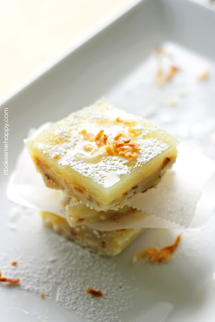 It Bakes Me Happy: Toasted Coconut Lime Bars