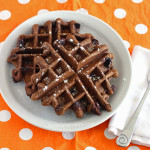 Double Chocolate Pumpkin Waffles