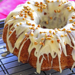 Banana Nut Cake with Maple Cream Cheese Frosting