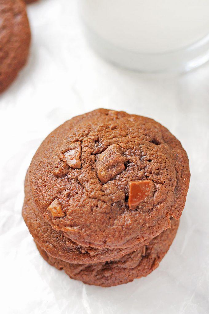 Dark Chocolate Cherry Cordial Cookies bake them this holiday season