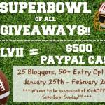 $500 PayPal Cash Super Bowl Giveaway