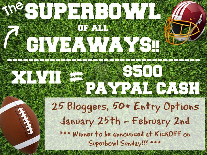 Super Bowl of Giveaways - $500 PayPal Cash Giveaway