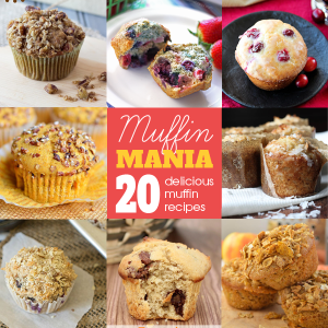 Muffin Mania - a roundup of 20 delicious muffin recipes | It Bakes Me Happy