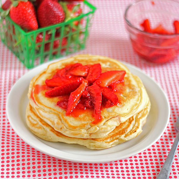 Sweet Strawberry Pancakes | It Bakes Me Happy