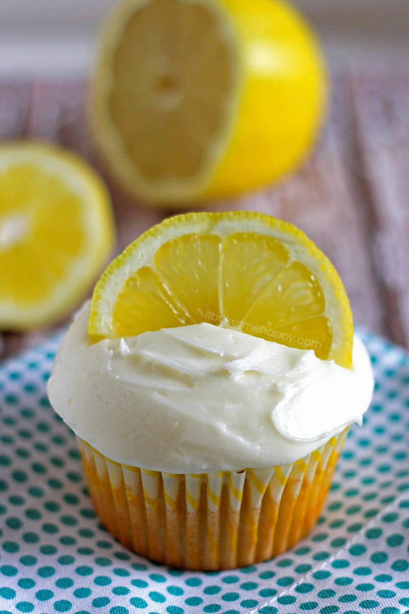 Lemon Burst Cupcakes | It Bakes Me Happy