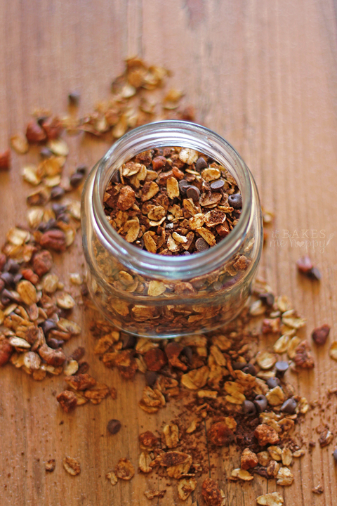 5 Minute Chocolate Lovers Granola | It Bakes Me Happy