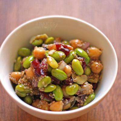 Edamame Salad with Chia Vinaigrette