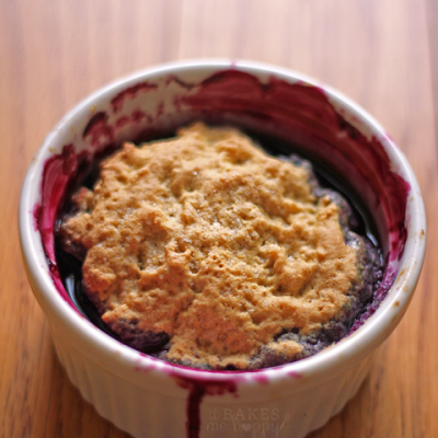 Single Serving Mixed Berry Cobbler