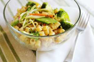 Sesame Ginger Pasta Salad | It Bakes Me Happy