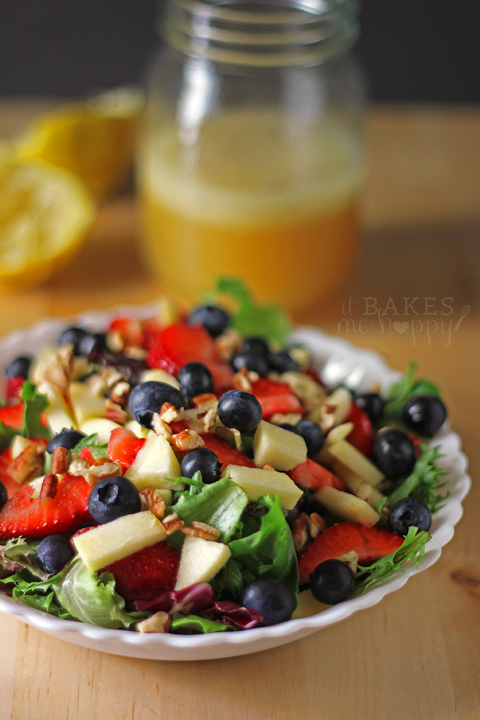 Honey Lime Vinaigrette + Apple Berry Pecan Salad
