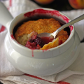 Blackberry Peach Cobbler | It Bakes Me Happy