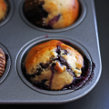 Chocolate Blueberry Banana Muffins | It Bakes Me Happy