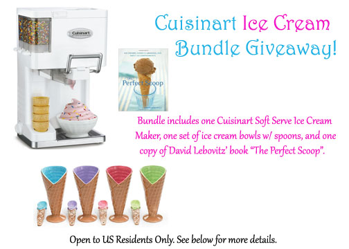 Summer Ice Cream Maker Giveaway @ It Bakes Me Happy