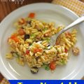 Tuna Vegetable Orzo Salad | It Bakes Me Happy