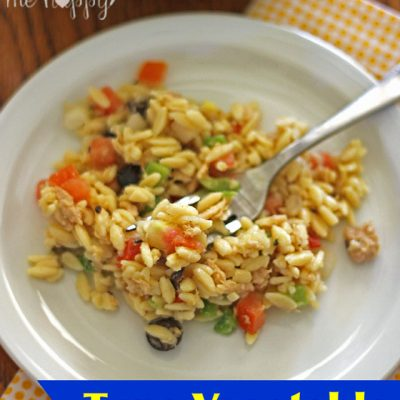 Tuna Vegetable Orzo Salad