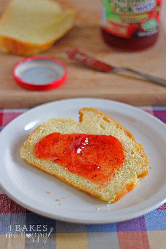 Enjoy a slice of this is soft, buttery, delicate French Brioche bread with your favorite jam.