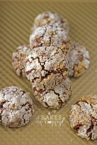 Chocolate Peanut Butter Crackles | It Bakes Me Happy