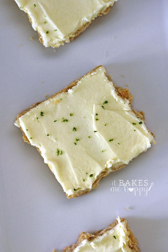 White Chocolate Key Lime Shortbread Bars | It Bakes Me Happy