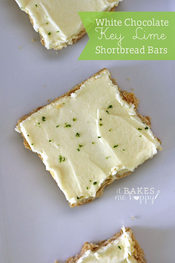 White Chocolate Key Lime Shortbread Squares