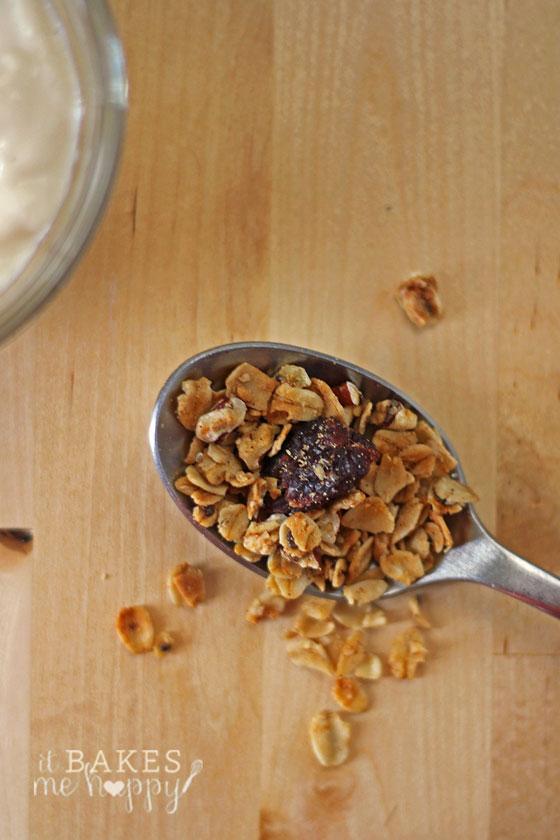 Cherry Vanilla Granola | It Bakes Me Happy