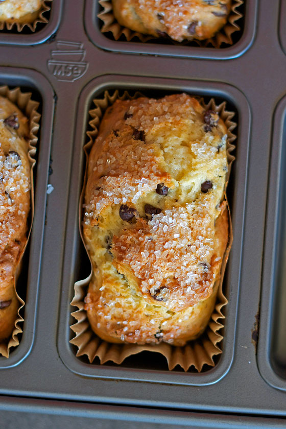 Chocolate Chip Muffin Loaves