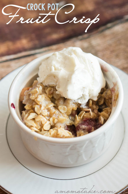 Crock Pot Fruit Crisp
