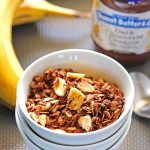 Dark Chocolate Peanut Butter Banana Granola