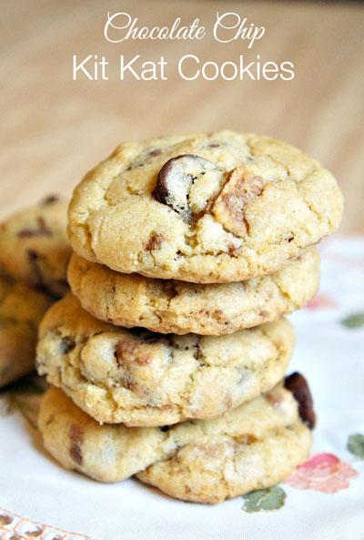 Chocolate-Chip-Kit-Kat-Cookies