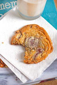 Dark Chocolate Almond Sea Salt Cookies
