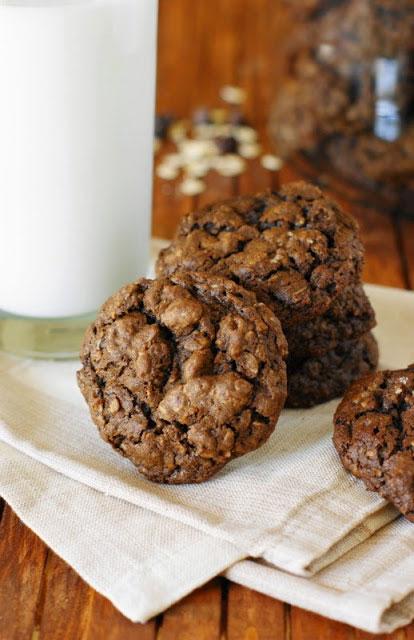 Triple-Chocolate-Oatmeal-Cookies