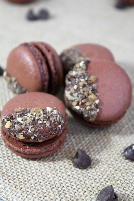 Chocolate-Macarons-Toffee