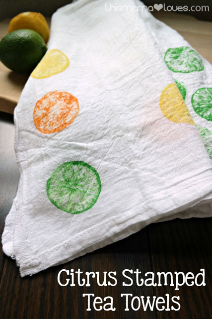 Citrus-Stamped-Tea-Towels
