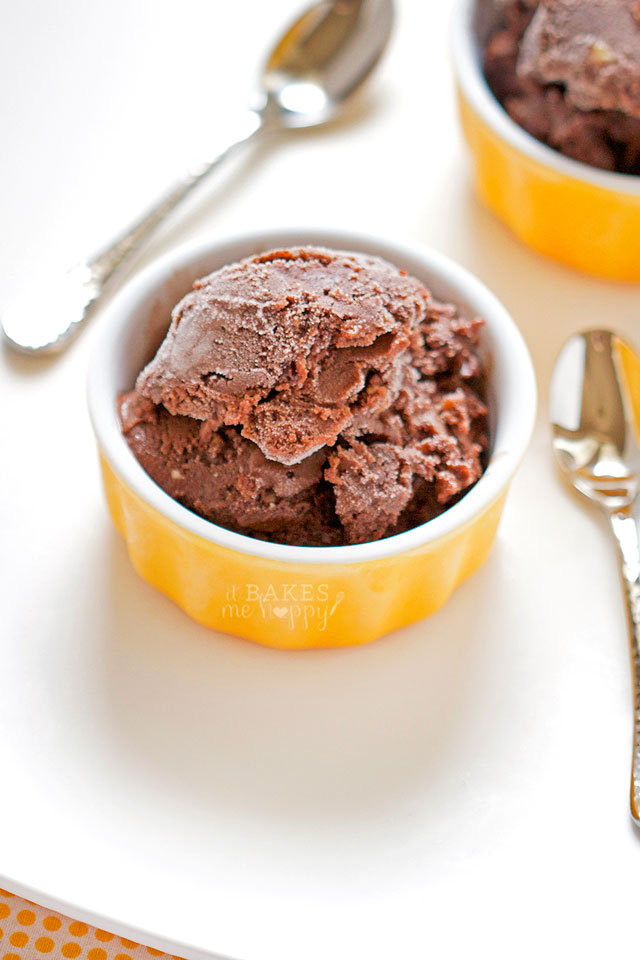 Rich, creamy Double Chocolate Cashew Ice Cream is studded with chopped cashews and chocolate and it's dairy free!