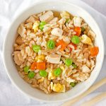 Easy Chicken Fried Rice is the perfect quick, delicious weeknight meal!