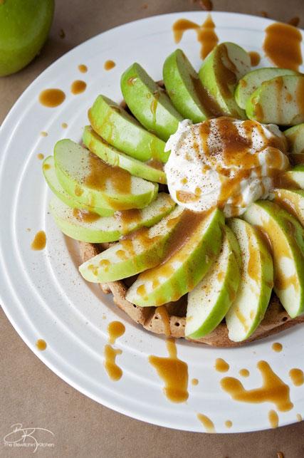 Caramel-apple-waffles