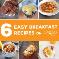 Try these 6 Easy Breakfast Recipes to make your morning a little bit better, cookies, pancakes, muffins and more!