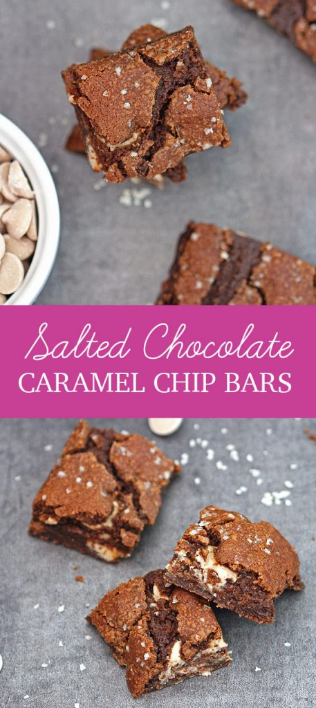 Salted Chocolate Caramel Chip Bars