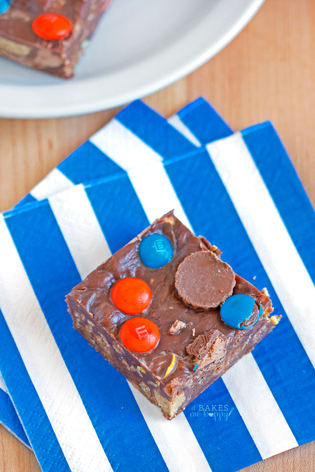 Fudgy No Bake Bars