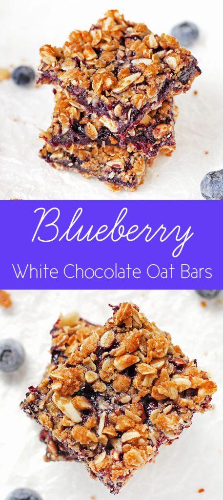 Blueberry White Chocolate Oat Bars