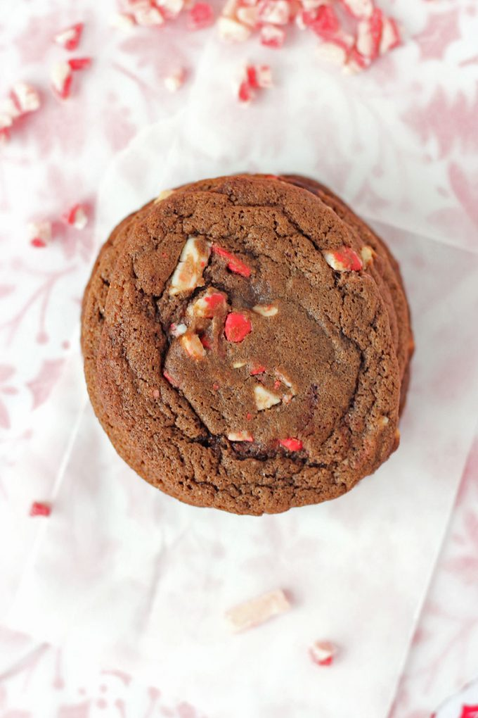 Chocolate Peppermint Crunch Cookies hero
