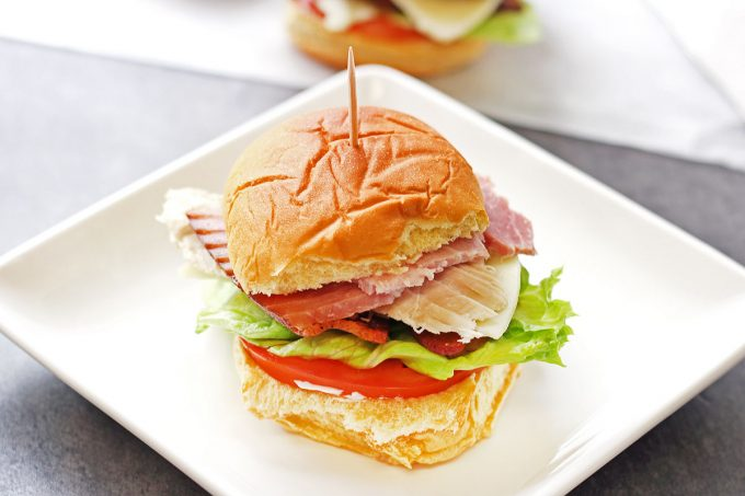 Club Sandwich Sliders are perfect fro the big game