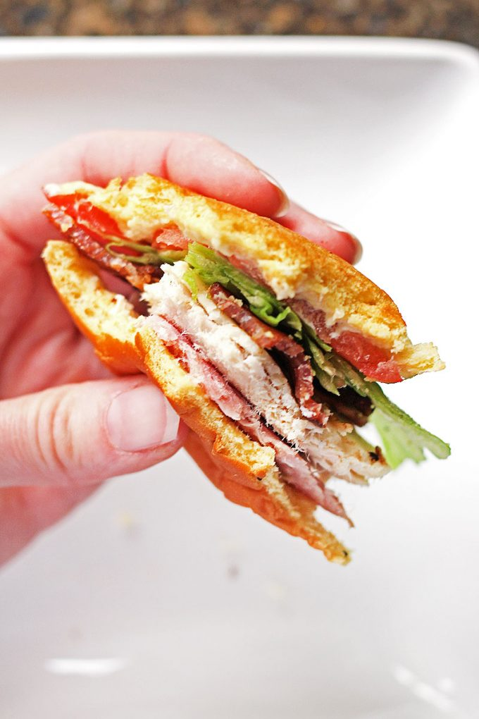 Club Sandwich Sliders make a great handheld bite
